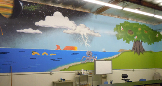 Mural in Classroom Two, north wall