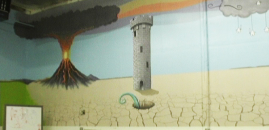 Mural in Classroom Two, south wall